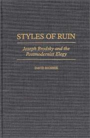 Cover of: Styles of ruin