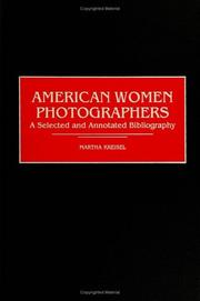 Cover of: American women photographers