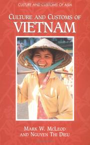 Cover of: Culture and Customs of Vietnam | Mark W. McLeod