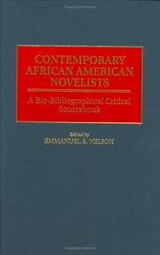 Cover of: Contemporary African American Novelists