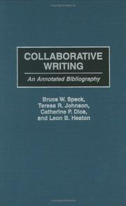 Cover of: Collaborative Writing | Bruce W. Speck