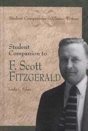 Cover of: Student companion to F. Scott Fitzgerald