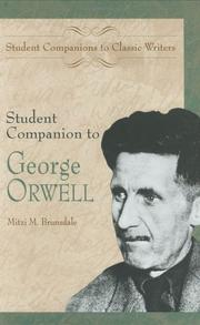 Cover of: Student companion to George Orwell | Mitzi Brunsdale