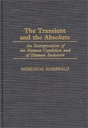 Cover of: The transient and the absolute