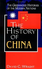 Cover of: The history of China