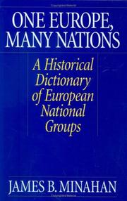 Cover of: One Europe, many nations: a historical dictionary of European national groups