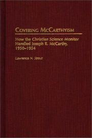 Cover of: Covering McCarthyism