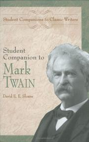 Cover of: Student companion to Mark Twain | David E. E. Sloane