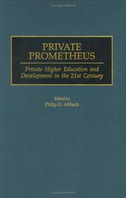 Cover of: Private Prometheus | Philip G. Altbach