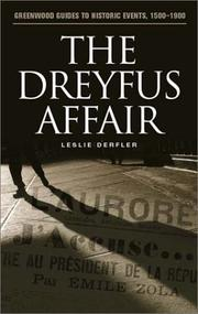 The Dreyfus affair by Leslie Derfler