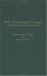 Early Psychological Thought by Christopher D. Green, Philip R. Groff