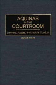 Cover of: Aquinas in the courtroom