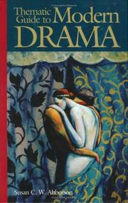 Cover of: Thematic guide to modern drama