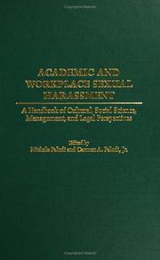 Cover of: Academic and Workplace Sexual Harassment |