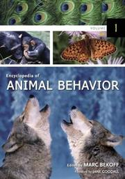 Cover of: Encyclopedia of Animal Behavior (3 Vol. Set) | Marc Bekoff