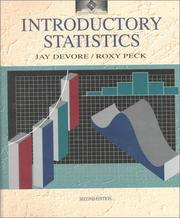 Cover of: Introductory statistics