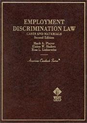 Cover of: Employment discrimination law | Mack A. Player