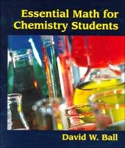 Cover of: Essential Math for Chemistry Students | David W. Ball
