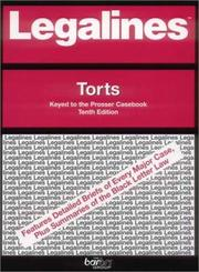 Cover of: Legalines: Torts | Jonathon Neville