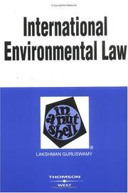 Cover of: International environmental law in a nutshell