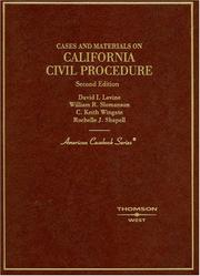 Cover of: California civil procedure