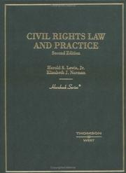 Cover of: Civil rights law and practice