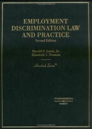Cover of: Employment discrimination law and practice