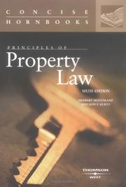 Cover of: Principles of property law | Herbert Hovenkamp