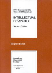 Cover of: 2004 Supplement To  Cases And Materials On Intellectual Property