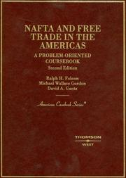 Cover of: NAFTA and free trade in the Americas | Ralph Haughwout Folsom