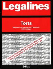 Cover of: Legalines: Torts | Gloria A. Aluise