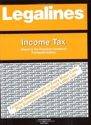 Cover of: Legalines: Income Tax | Scott M. Burbank