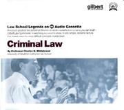 Cover of: Law School Legends Criminal Law