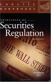 Cover of: Principles of securities regulation