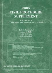 Cover of: 2005 Civil Procedure Supplement, 2005 (American Casebook Series) | Jack H. Friedenthal