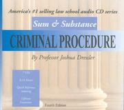 Cover of: Sum & Substance Audio on Criminal Procedure, (CD) (Sum & Substance)