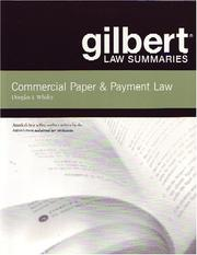 Cover of: Gilbert Law Summaries | Douglas J. Whaley