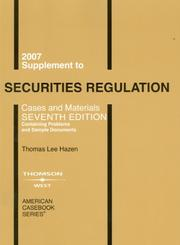 Cover of: Securities Regulation 2007