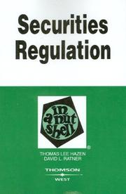 Cover of: Securities Regulations in a Nutshell,