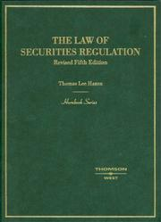 Cover of: Hornbook on the Law of Securities Regulation