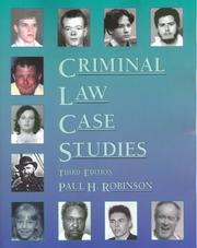 Cover of: Criminal Law Case Studies