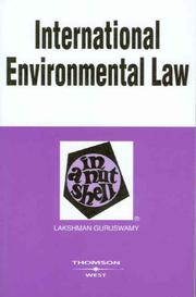 Cover of: International Environmental Law in a Nutshell (Nutshell Series)