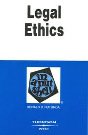 Cover of: Legal Ethics in a Nutshell (West Nutshell Series)