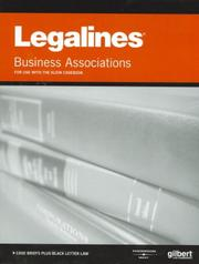Legalines on Business Associations, 6th - Keyed to Klein (Legalines)