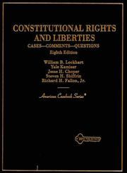 Cover of: Constitutional Rights and Liberties | William B. Lockhart