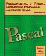 Cover of: Fundamentals of Pascal,Understanding Programming and Problem Solving