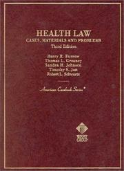 Cover of: Health Law | Barry R. Furrow