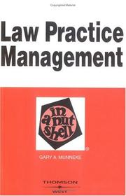 Cover of: Law practice management in a nutshell