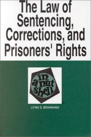 Cover of: Sentencing, Corrections, and Prisoners' Rights in a Nutshell (In a Nutshell) (5th Edition) (Nutshell Series,)