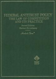Cover of: Federal antitrust policy | Herbert Hovenkamp